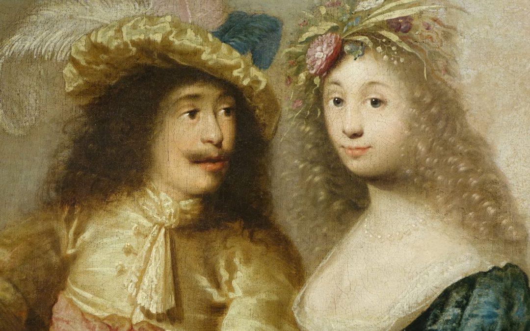 Tableau Aristocrates Attribue Jacob Van Der Merck antiquites la credence paris