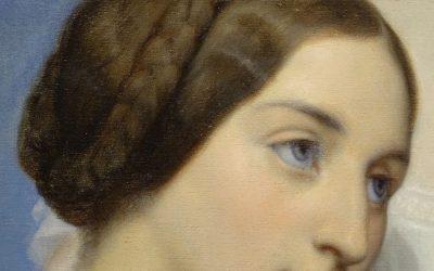 Double portrait signé Ary Scheffer 1795-1858