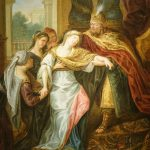 Painting The Fainting of Esther - French school circa 1720