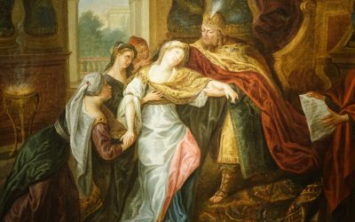 Painting The Fainting of Esther – French school circa 1720