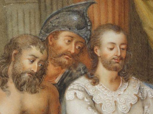 Painting Pair of Gouaches 18th century  La Credence antique store Paris