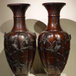 Paire de vases en bronze, Japon époque Meiji