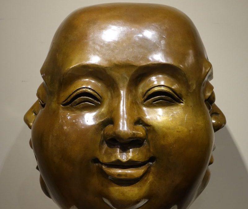 Sculpture de Bouddha à 4 Faces Antiquités la Crédence Antiquaire Paris