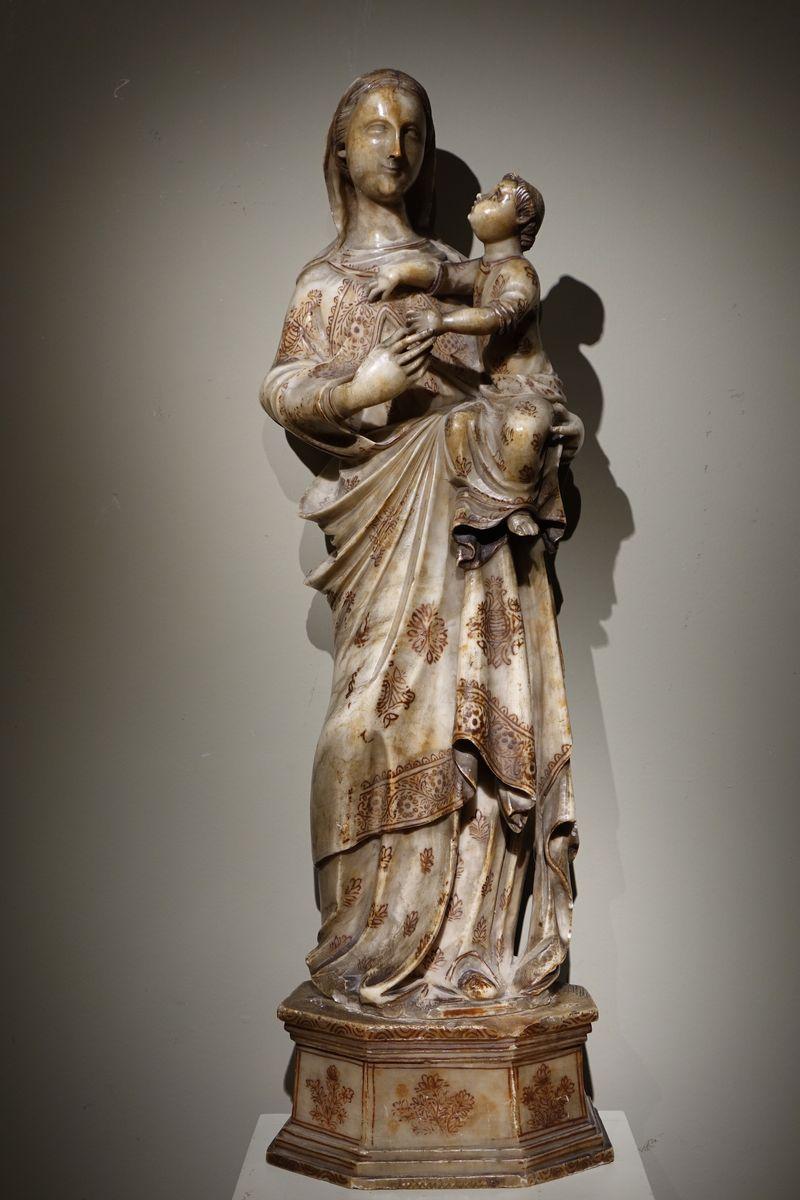 Sculpture Grande Vierge Albâtre 16ème siècle