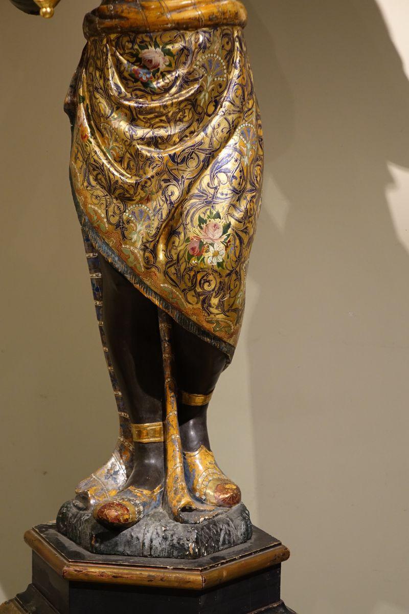 Pair of Torchbearers 19th C Venice – La Credence Antiquités