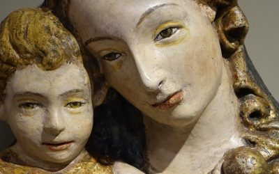 15th Century Sculpture of Madonna and Child