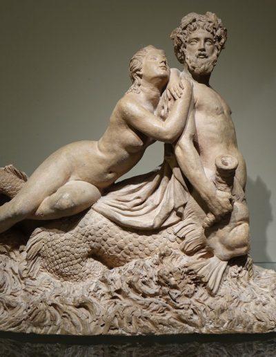 Sculpture Centaure marin et nymphe