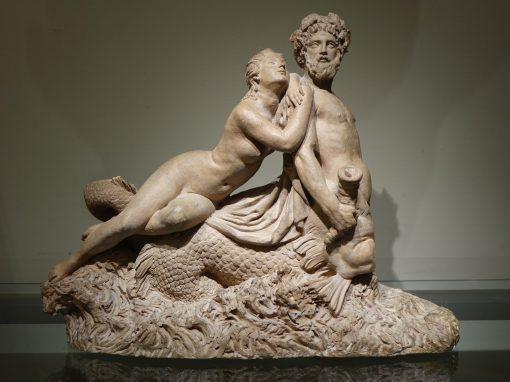 Marine Centaur and Nymph Terracotta Circa 1770 antique dealer la credence paris