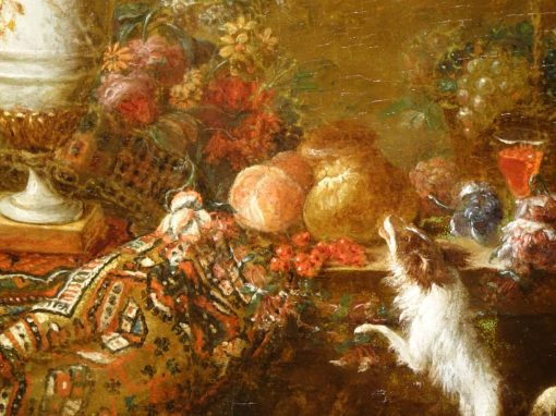 Pair of Still Life Paintings 19th century antique store la credence paris
