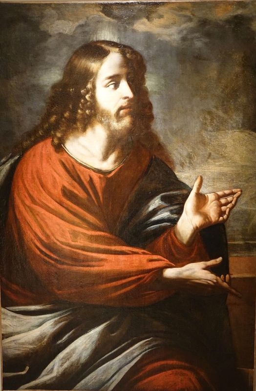 painting Christ oil on canvas la credence antique store paris
