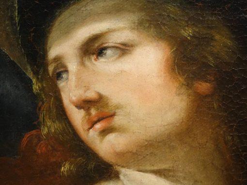 Painting representing Alexandre et Timoclée antiques  la credence paris