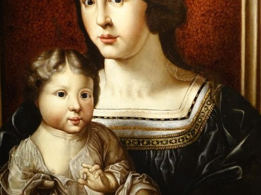 Painting representing Virgin and Child Flemish 17th century antique dealer la credence paris