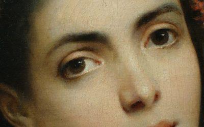 Painting Portrait signed Ch. SCHREIBER,1893
