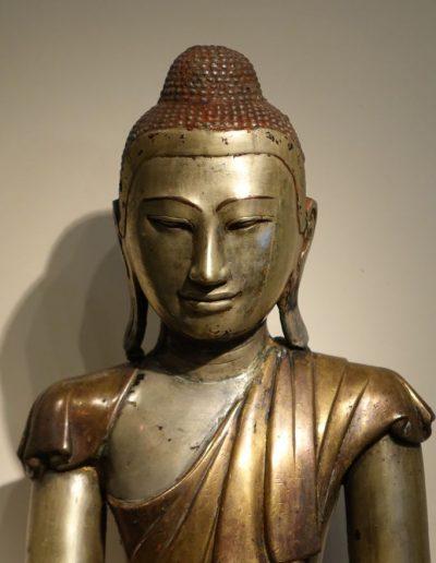 Sculpture Bouddha Birman du 19e siècle
