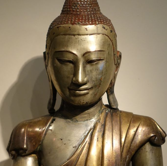 Bouddha mandalay bronze 8 pieces -05191_antiquites la credence paris