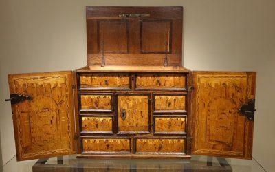 Mobilier Cabinet à Décor Fleuri et Architecturé,fin 16e-début 17e S.