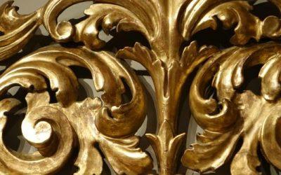 Mobilier Grand miroir en bois doré, Italie XVIIIe siècle