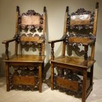Pair of 17th century Italian armchairs