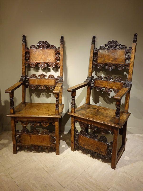 Mobilier-fauteuils Lombard 17e-la Credence Antiquaire A Paris