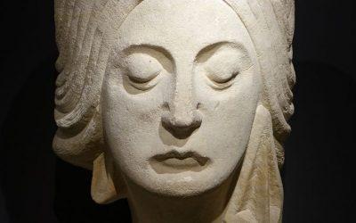 Stone Head of a Woman Circa 1925