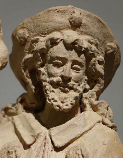 Sculpture Terre Cuite Originale Représentant Saint Roch