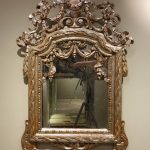 Mobilier Miroir d'époque Louis XVI à feuille d'argent