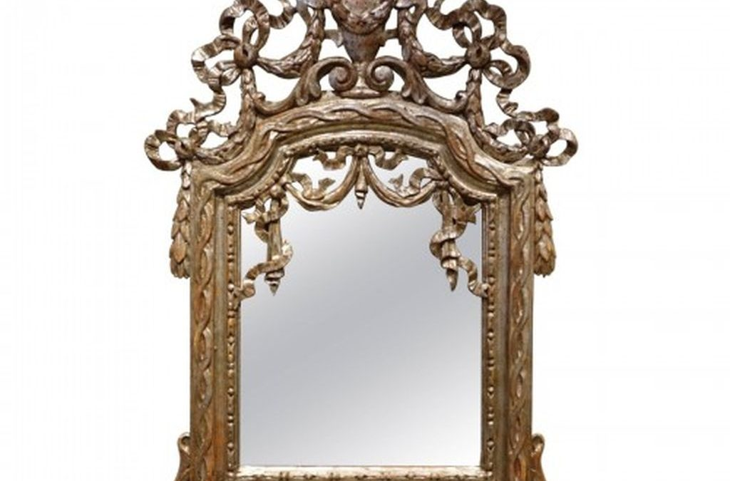 mirroir a feuille d argent -62374_antiquites la credence paris