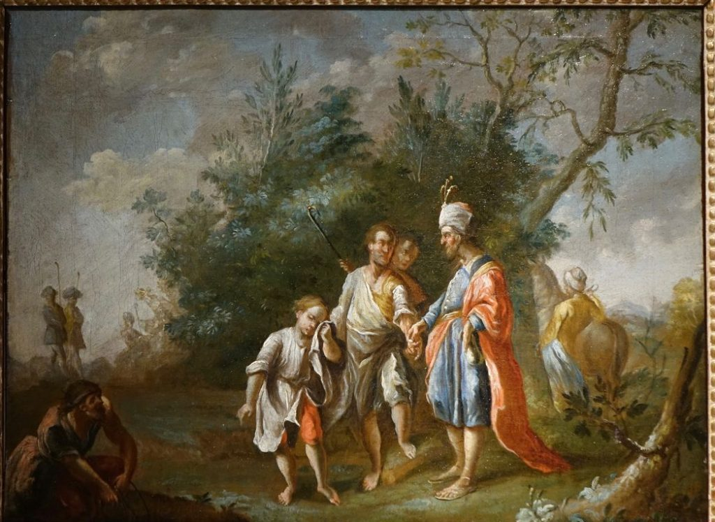 bleau 18e siecle marchand oriental -04919_antiquites la credence paris