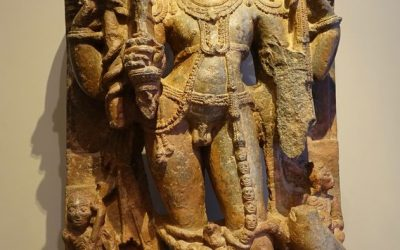 Stone sculpture the God Shiva, South India ,13th century