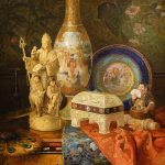 Still life painting with Chinoiseries