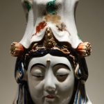 Big Statue of Kannon Porcelain Japan 19th Century