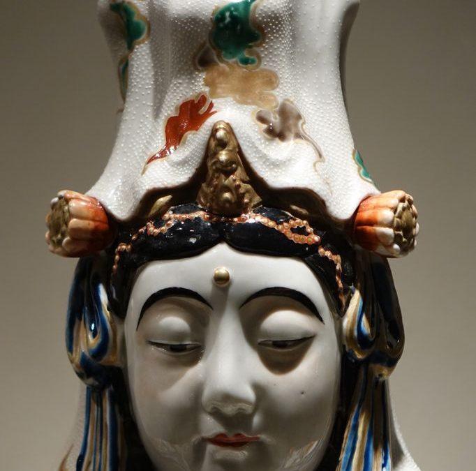 Statue porcelaine Japon Kutani