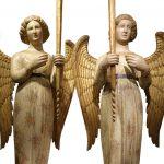 Paire d'anges céroféraires Italie fin du XIVe siècle