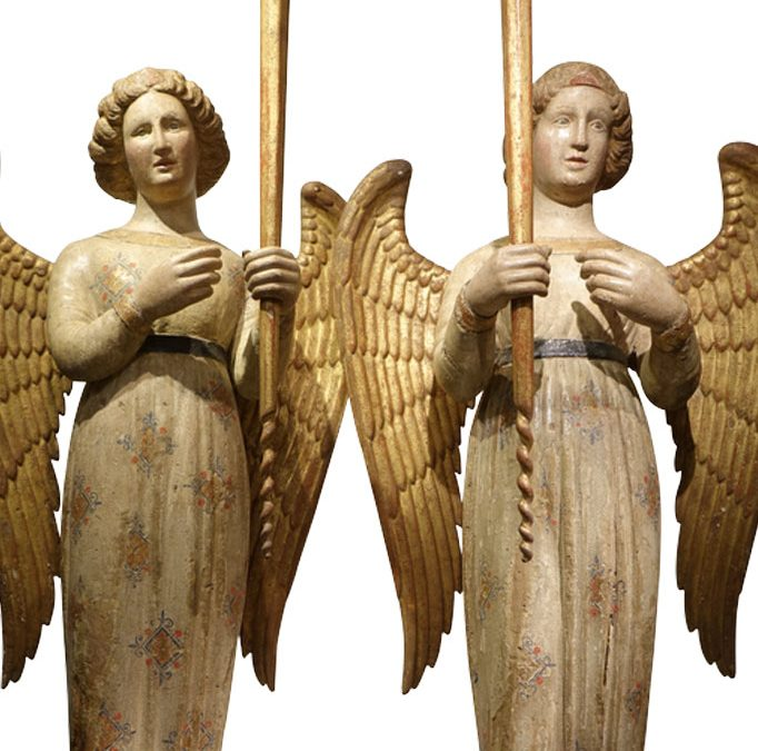 Paire-d-anges-14e-siecle-Sienne-15-antiquites-la-credence-paris-1