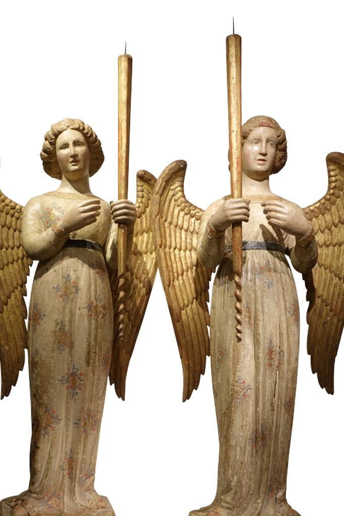 Paire d'anges Italie XIVe siècle