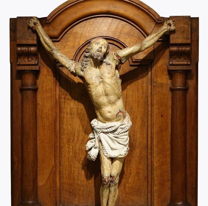 Christ papier mache espagne 18e siecle