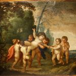 The Childhood of Bacchus 17th Century Flemish