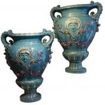 Pair of Huge Medicis Vases ,France circa 1890
