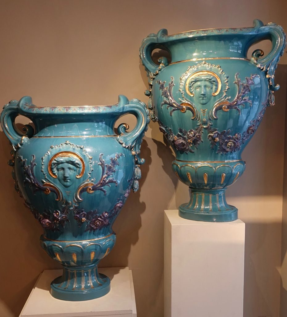Pair of Huge Medicis Vases ,France, circa 1890
