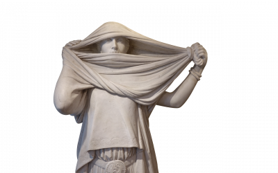 Marble Statue Woman with a Veil after J L Gerome