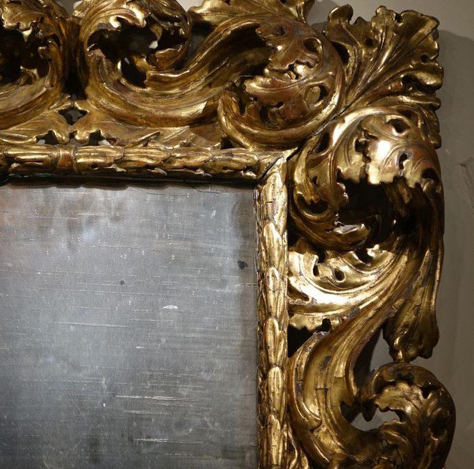 MIRROIR BAROQUE ITALIEN 8 antiquites la credence paris