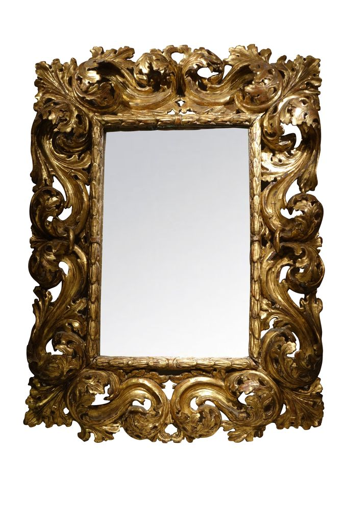 MIRROIR BAROQUE ITALIEN 8 antiquites la credence paris