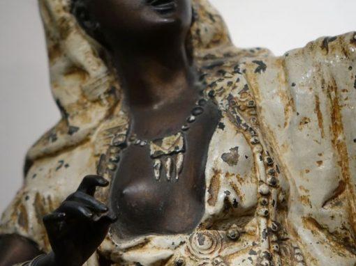Grand Babbit Metal Statue Representing an Egyptian Woman, England, 19th Century antique dealer la credence paris