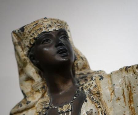 sculpture regule egyptienne antiquites la credence paris