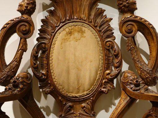 Large Baroque Armchair In Walnut, Austria-hungary, Circa 1880 la credence antique store paris