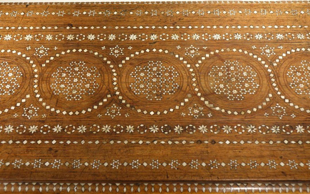Table basse 19e siecle Italienne decor incruste d os la credence antiquites paris
