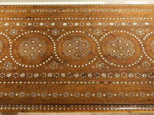 Bone inlaid table, Venice circa 1900 antique store la credence paris