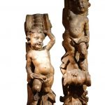 Pair of carved elements, France 17th century