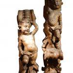 Paire de éléments sculptés, France XVIIe siècle