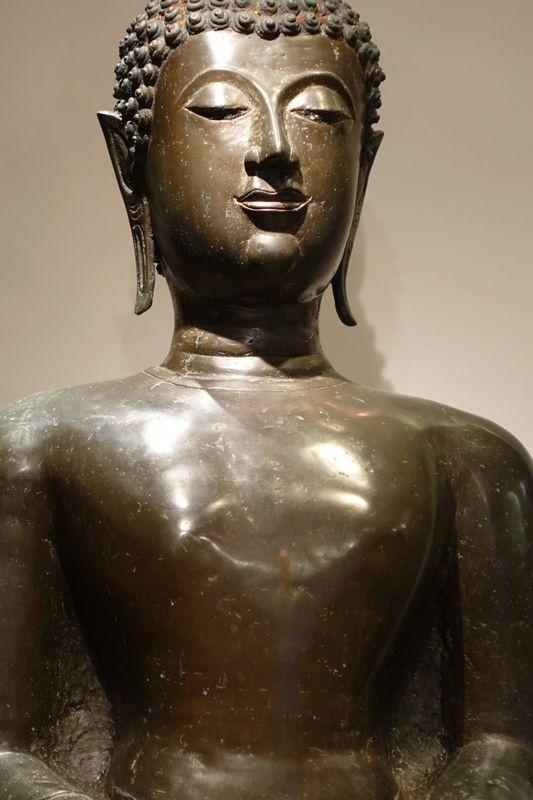 Grand Bouddha bronze Thailand 19e